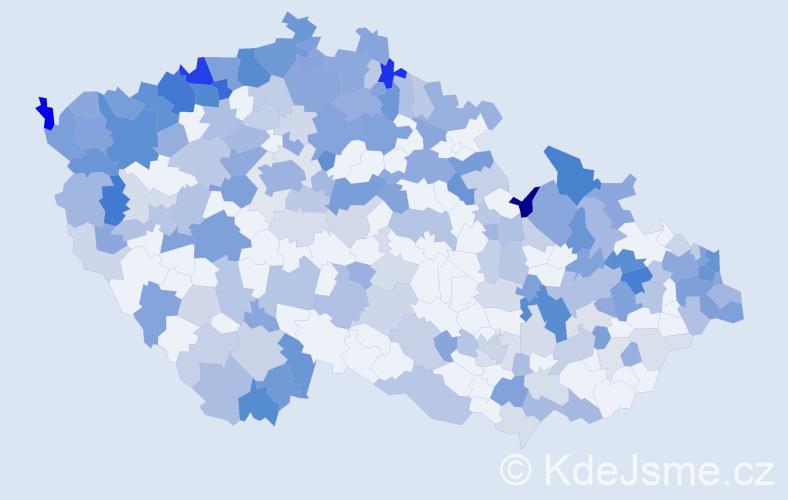 Jméno: 'Verona', počet výskytů 462 v celé ČR