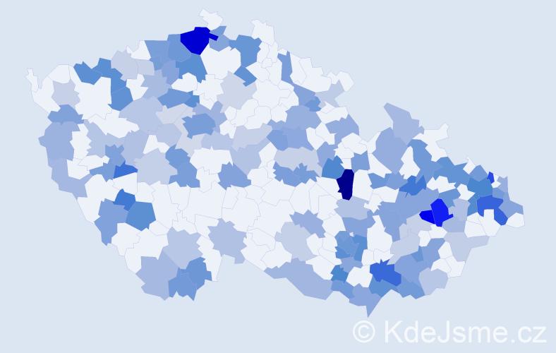 Jméno: 'Fabián', počet výskytů 264 v celé ČR