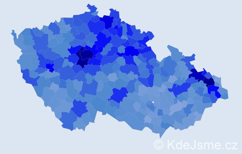 Jméno: 'Matěj', počet výskytů 27016 v celé ČR