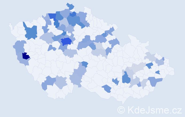 Jméno: 'Vladimir', počet výskytů 167 v celé ČR