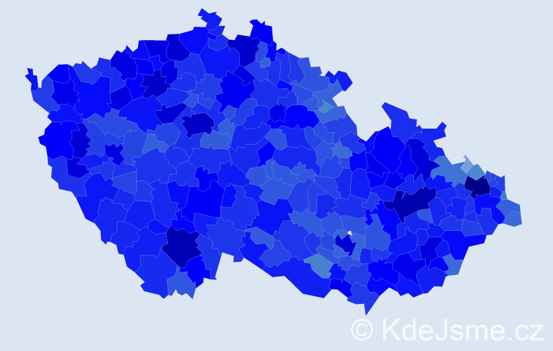 Jméno: 'Miroslav', počet výskytů 159812 v celé ČR