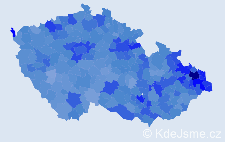 Jméno: 'Dominik', počet výskytů 32053 v celé ČR