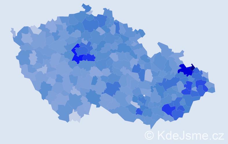 Jméno: 'Amálie', počet výskytů 6320 v celé ČR