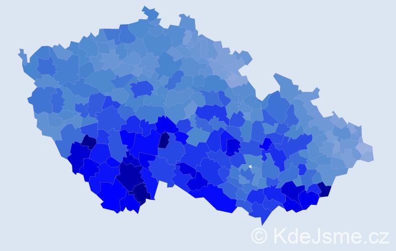 Jméno: 'František', počet výskytů 145255 v celé ČR