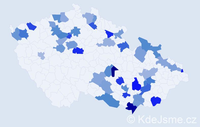 Jméno: 'Adele', počet výskytů 71 v celé ČR