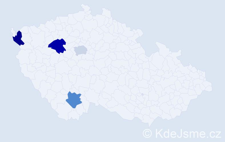 Jméno: 'Šimon Sebastian', počet výskytů 4 v celé ČR