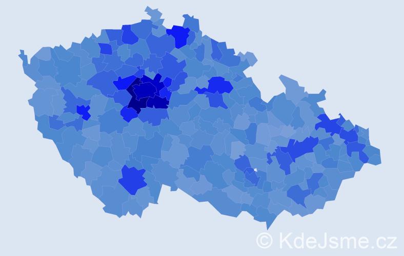 Jméno: 'Karolína', počet výskytů 36997 v celé ČR