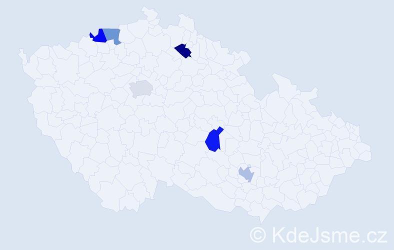 Jméno: 'Quang Vinh', počet výskytů 6 v celé ČR
