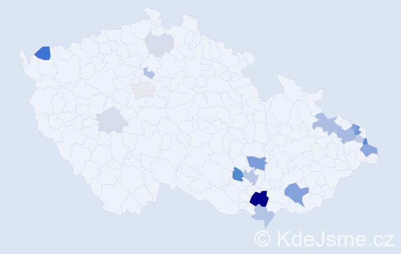 Příjmení: 'Kallus', počet výskytů 64 v celé ČR