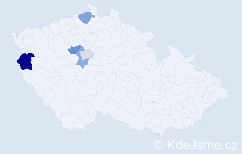 Příjmení: 'Erdová', počet výskytů 8 v celé ČR
