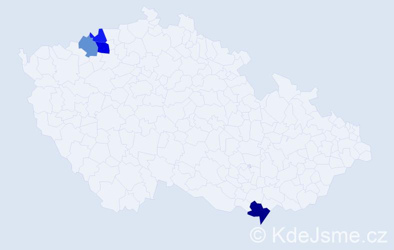 Příjmení: 'Malarik', počet výskytů 6 v celé ČR