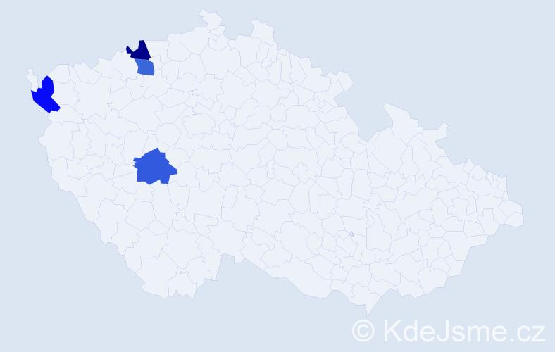 Příjmení: 'Ďuková', počet výskytů 4 v celé ČR