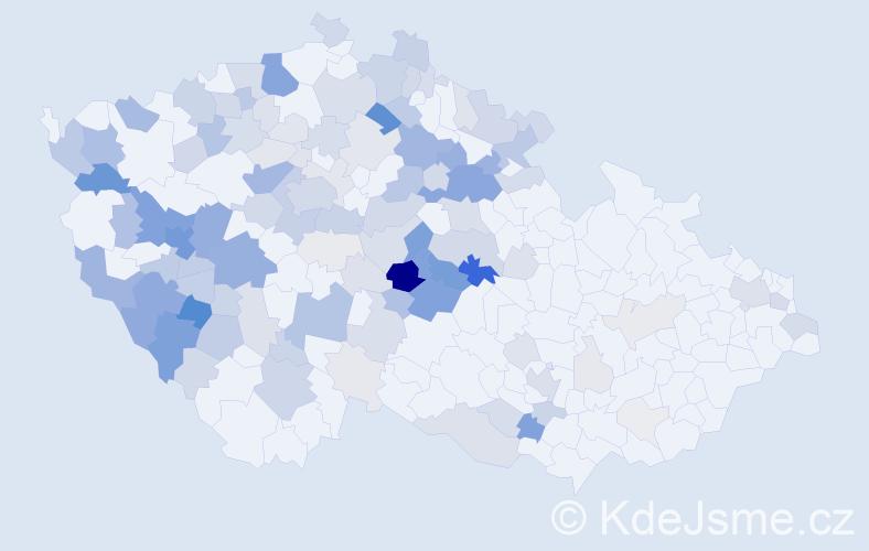 Příjmení: 'Chladová', počet výskytů 454 v celé ČR