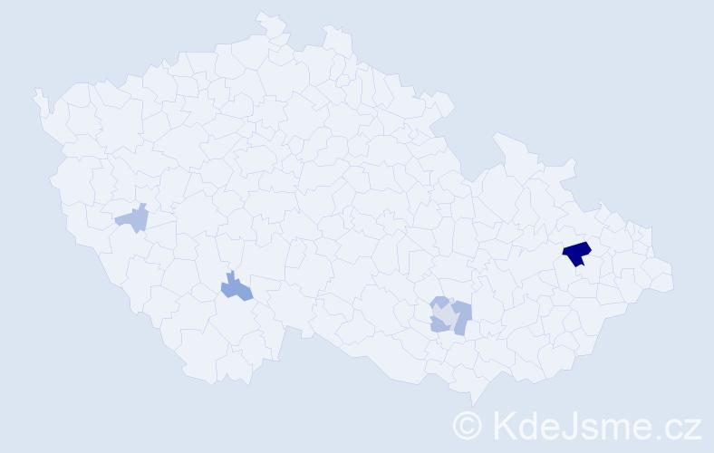 Příjmení: 'Holzová', počet výskytů 16 v celé ČR