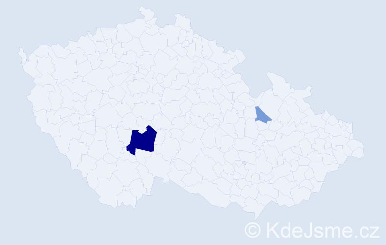 Příjmení: 'Covaci', počet výskytů 8 v celé ČR