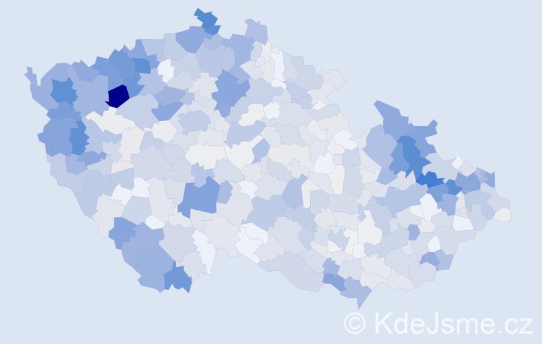 Příjmení: 'Kováč', počet výskytů 3275 v celé ČR