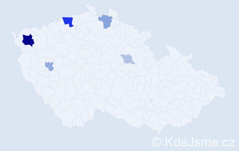 Příjmení: 'Ehmová', počet výskytů 16 v celé ČR