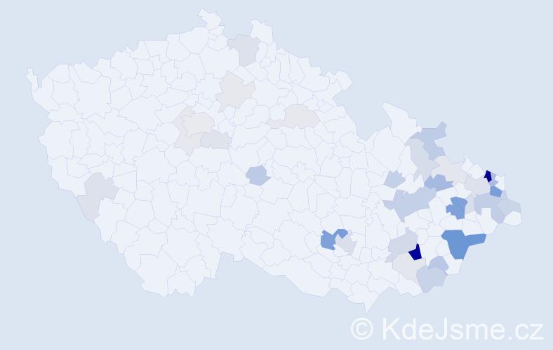 Příjmení: 'Gabryš', počet výskytů 114 v celé ČR
