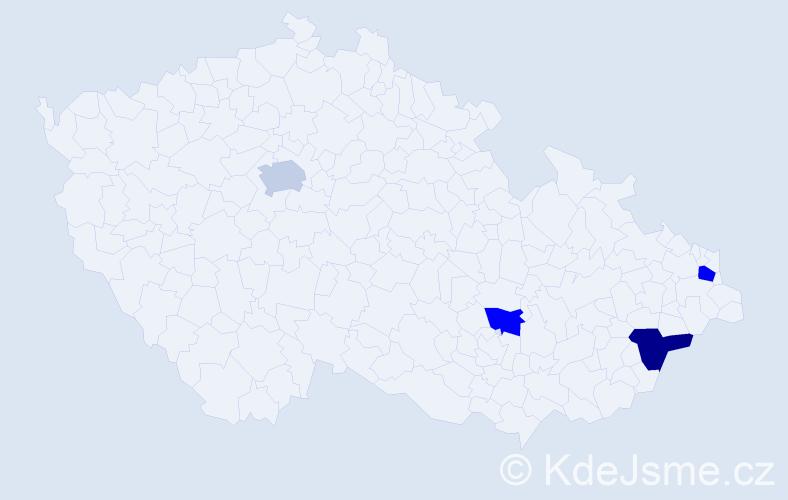 Příjmení: 'Likavčan', počet výskytů 11 v celé ČR