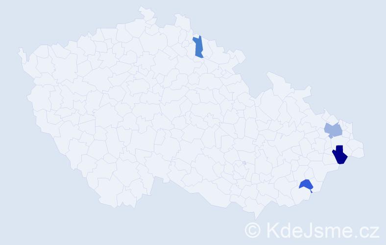 Příjmení: 'Derkáč', počet výskytů 7 v celé ČR