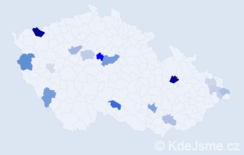 Příjmení: 'Bennett', počet výskytů 41 v celé ČR