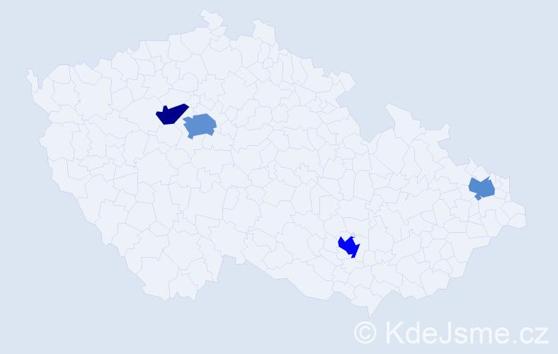 Příjmení: 'Demiri', počet výskytů 7 v celé ČR