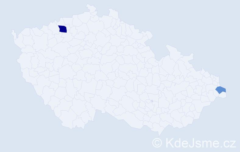 Příjmení: 'Boldog', počet výskytů 4 v celé ČR