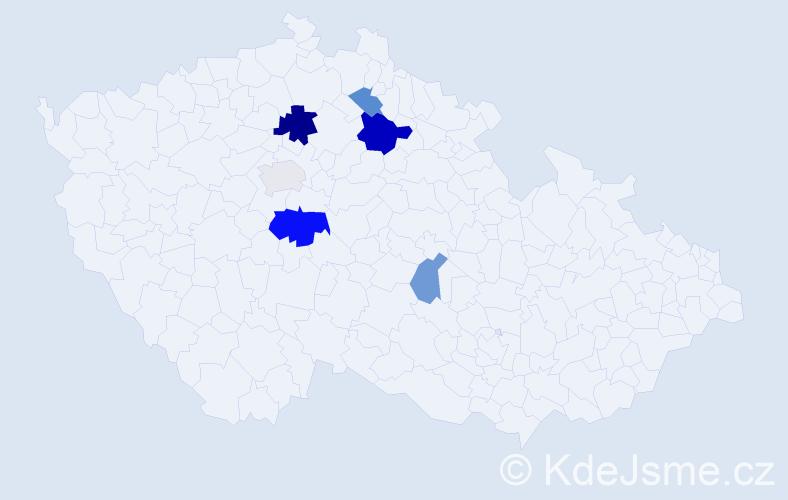 Příjmení: 'Barochovská', počet výskytů 12 v celé ČR