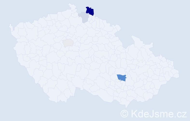 Příjmení: 'Čenger', počet výskytů 11 v celé ČR