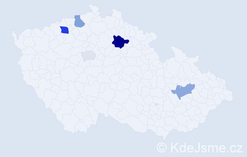Příjmení: 'Dlugopolský', počet výskytů 7 v celé ČR