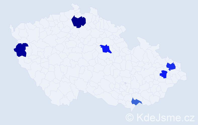 Příjmení: 'Jurčišin', počet výskytů 11 v celé ČR