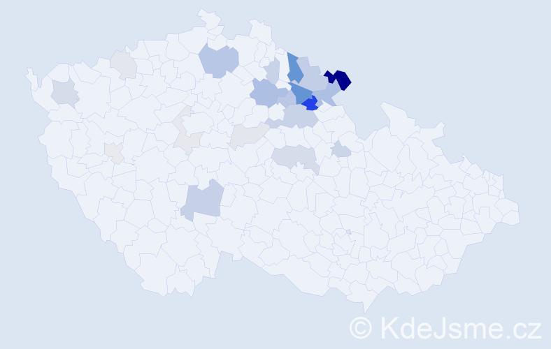 Příjmení: 'Hetfleišová', počet výskytů 56 v celé ČR