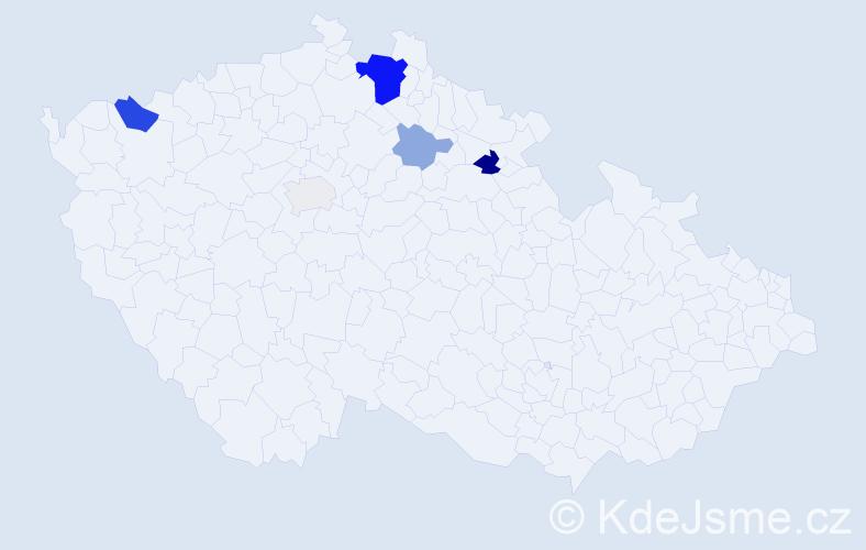 Příjmení: 'Banghová', počet výskytů 14 v celé ČR