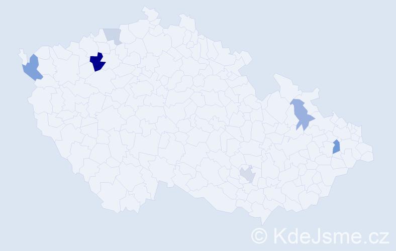 Příjmení: 'Dundek', počet výskytů 12 v celé ČR