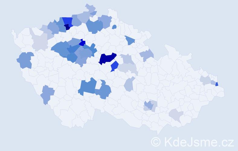 Příjmení: 'Civín', počet výskytů 170 v celé ČR
