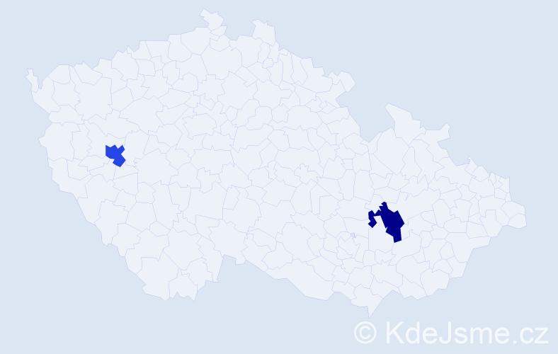 Příjmení: 'Leng', počet výskytů 2 v celé ČR