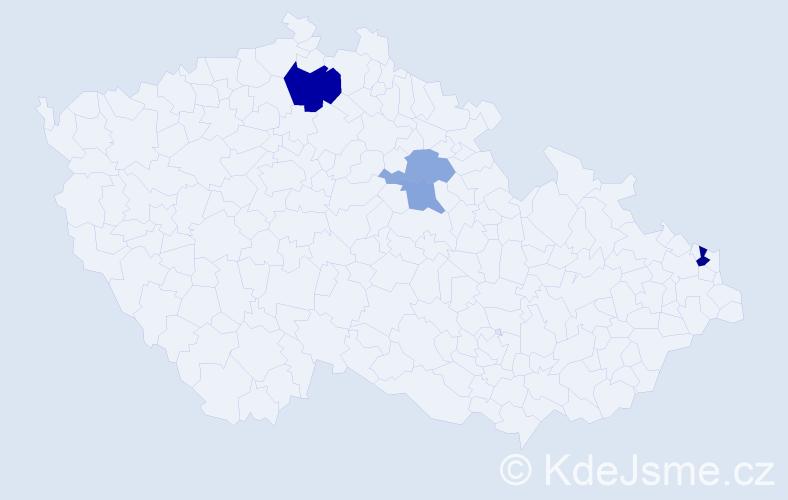 Příjmení: 'Ilovská', počet výskytů 7 v celé ČR