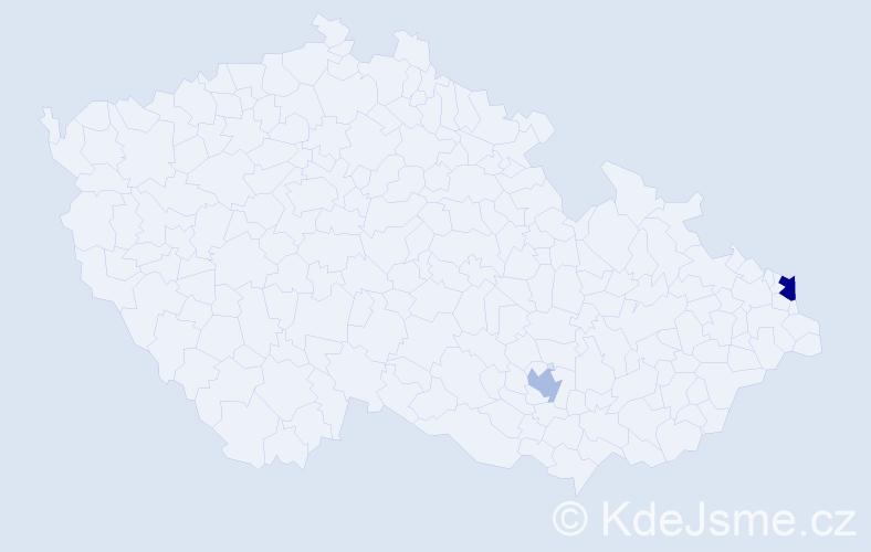 Příjmení: 'Fotiadis', počet výskytů 3 v celé ČR