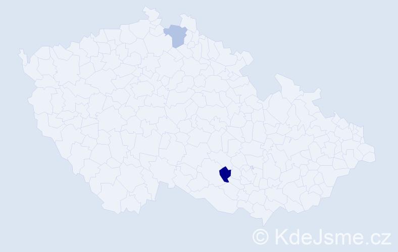 Příjmení: 'Fijalková', počet výskytů 4 v celé ČR