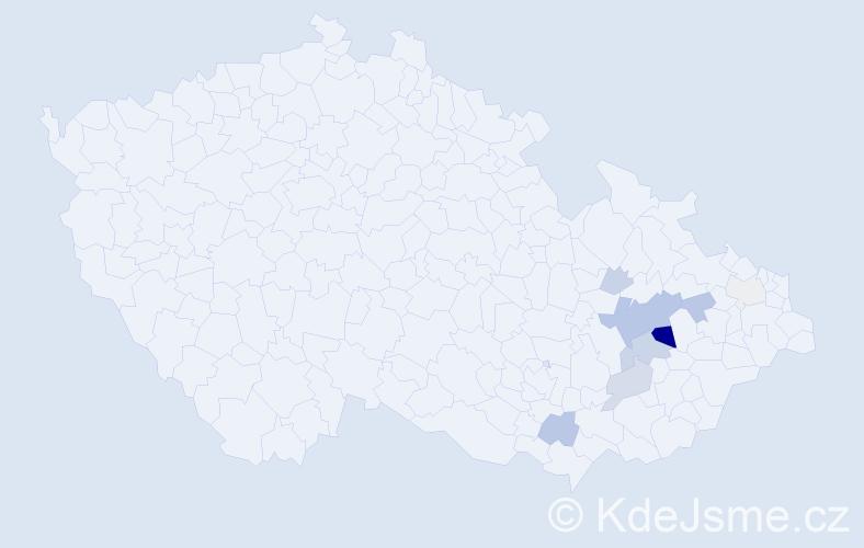 Příjmení: 'Heitl', počet výskytů 25 v celé ČR