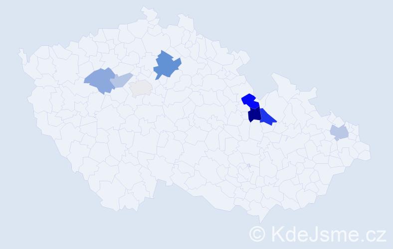 Příjmení: 'Karn', počet výskytů 14 v celé ČR