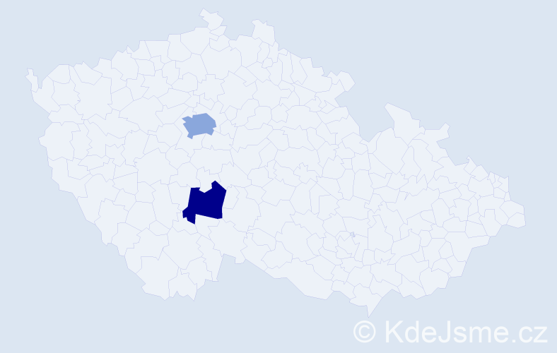 Příjmení: 'Benkerri', počet výskytů 6 v celé ČR