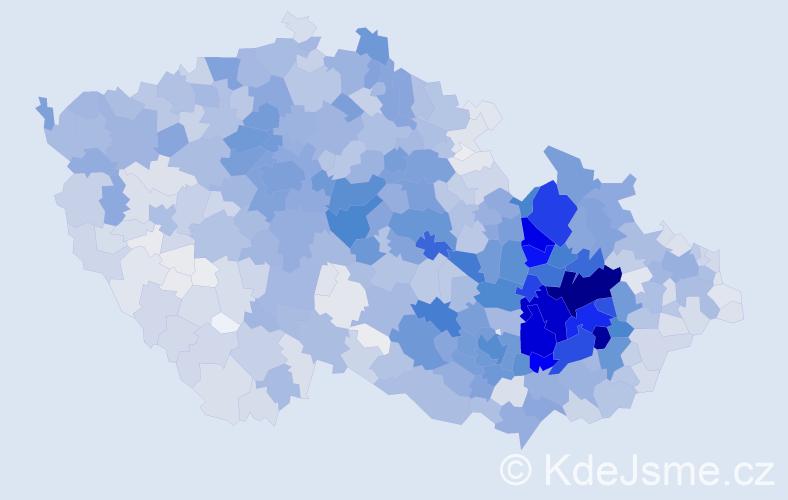 Příjmení: 'Pospíšilová', počet výskytů 11003 v celé ČR