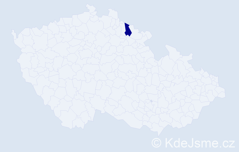 """Příjmení: '""""Fejfarová Kellnerová""""', počet výskytů 1 v celé ČR"""