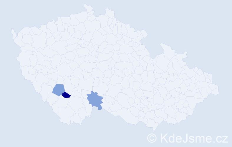 Příjmení: 'Chmelec', počet výskytů 3 v celé ČR