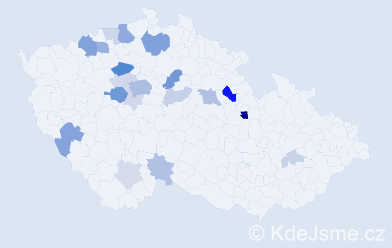 Příjmení: 'Ezrová', počet výskytů 51 v celé ČR