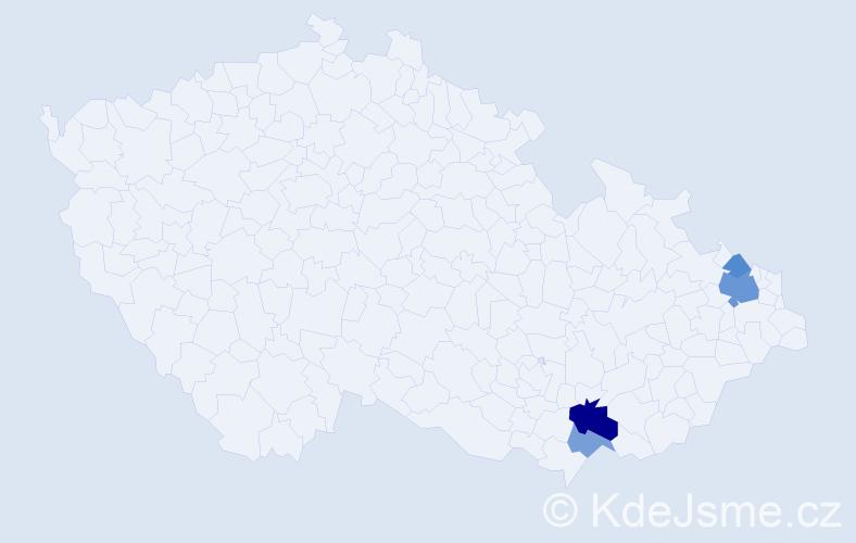 Příjmení: 'Langřík', počet výskytů 9 v celé ČR