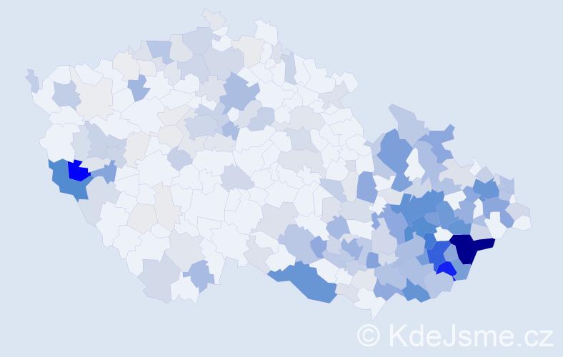 Příjmení: 'Hrbáčková', počet výskytů 1013 v celé ČR