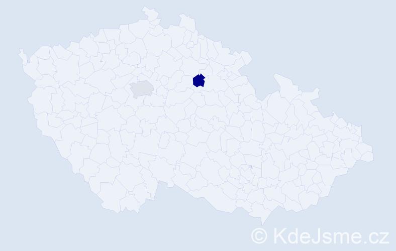 Příjmení: 'Krýš', počet výskytů 5 v celé ČR