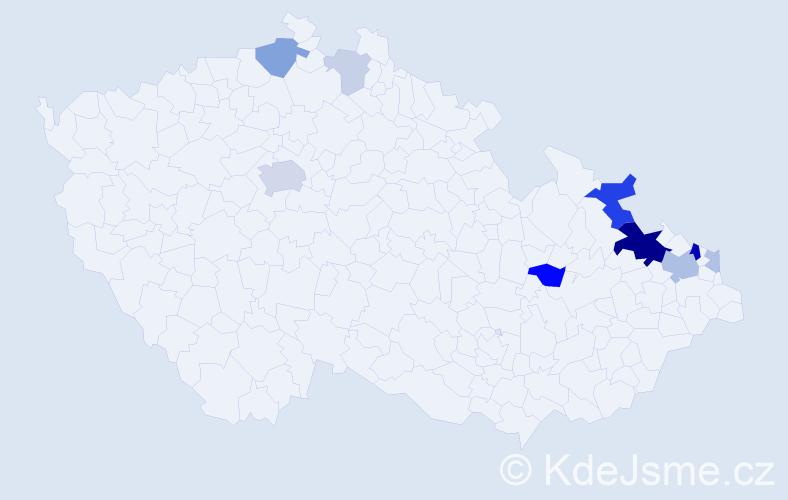 Příjmení: 'Citronová', počet výskytů 29 v celé ČR